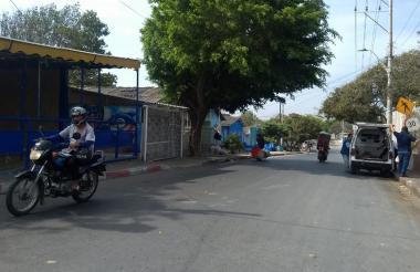 Sector del barrio San Luis donde se presentaron los hechos.