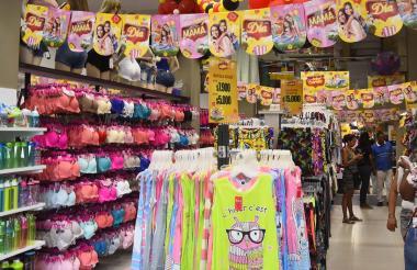 Almacén de ropa en el centro de Barranquilla.