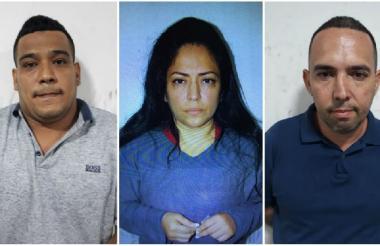 Los tres capturados por la Policía.