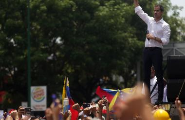 El jefe del Parlamento venezolano, Juan Guaidó, reconocido por más de 50 países como presidente interino.