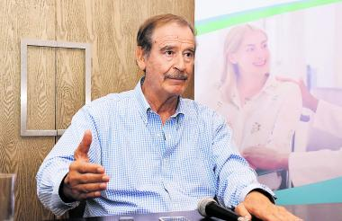 Vicente Fox, miembro de la junta directiva de Khiron, durante su entrevista.