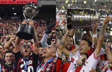 Atlético Paranaense y River Plate.