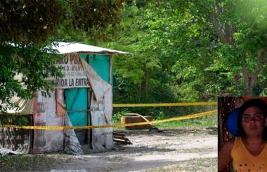 Lugar donde fue encontrado el cuerpo de Angélica María Montaño Acosta de 32 años (en el recuadro).