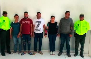 Los señalados integrantes de la banda de cobradiarios 'los Gavilleros'.