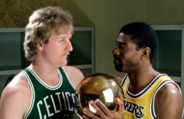 Magic Johnson y Larry Bird.