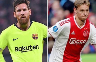 Messi y De Jong.