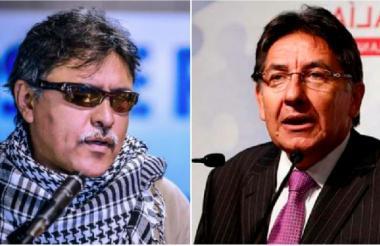 Jesús Santrich y Néstor Humberto Martínez.