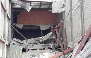 Imagen del colpaso de la obra en Fundación