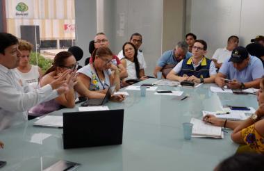 Durante dos horas sesionó ayer el comité de gestión de riesgos de Sincelejo.