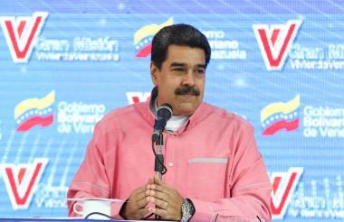 Nicolás Maduro, presidente chavista de Venezuela, habla durante un evento.