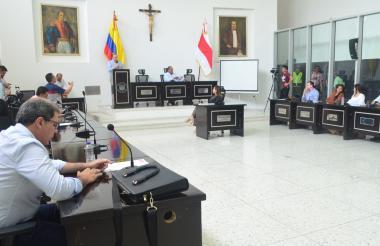 Clausura de sesiones extraordinarias de la Duma Departamental.