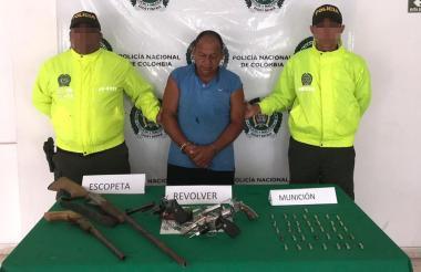 José Ávila Maza, capturado por fabricación, tráfico y/o porte de armas de fuego.