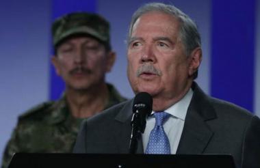 El ministro de Defensa, Guillermo Botero.