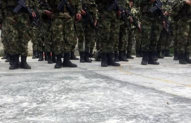 Militares del Ejército Nacional de Colombia.