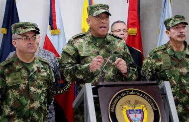 El comandante de las Fuerzas Militares, general Luis Fernando Navarro.