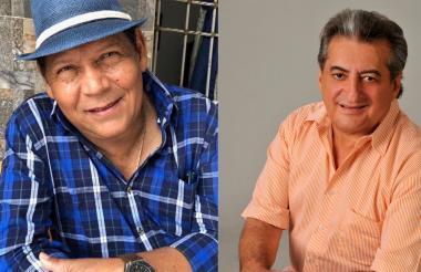 Los músicos Rosendo Romero y Jorge Oñate.