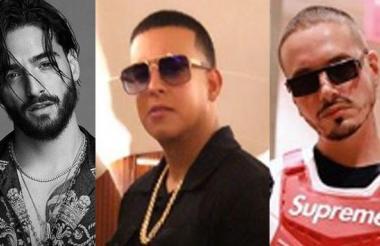 Maluma, Daddy Yankee y J Balvin.