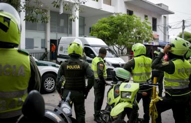 El amotinamiento de los reclusos en la URI de la Fiscalía obligó a la presencia de la Policía en el lugar-