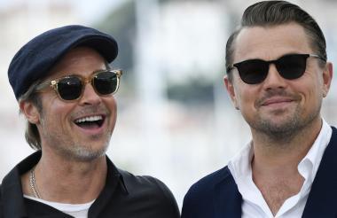 Brad Pitt y Leonardo Di Caprio en la presentación del filme 'Érase una vez en... Hollywood', en Cannes.