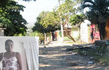 Barrio Cuchilla de Villate, donde vive María Alejandra Orozco Santiago.
