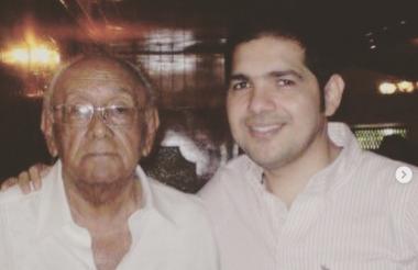 Peter Manjarrés y su padre.