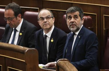 Oriol Junqueras, Jordi Turull, Josep Rull y Jordi Sànchez.