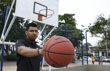 El basquetbolista barranquillero Jaime Echenique.