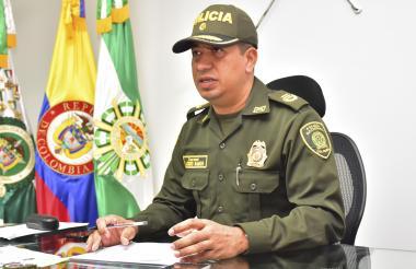 Lácides Ramos, comandante de la Polícia del Cesar.