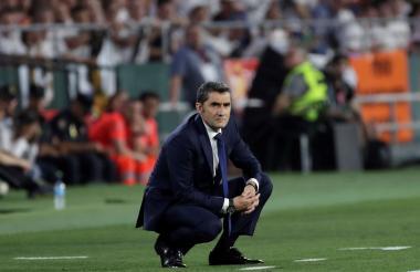 Ernesto Valverde, DT del FC Barcelona.