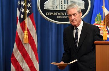 Robert Mueller luego de hablar sobre la investigación sobre trama rusa.