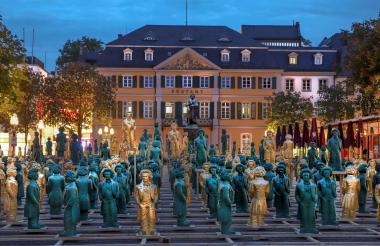 Estatuas del compositor.