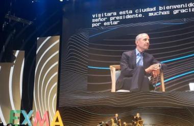 Barack Obama durante una conferencia en Bogotá.