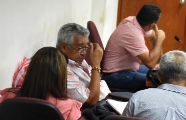 El exalcalde de Codazzi, Efraín Quintero, durante la audiencia en el Palacio de Justicia de Valledupar.