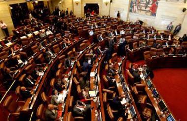 Vista del Congreso de la República.