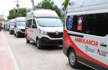 Ambulancias entregadas a la red hospitalaria.