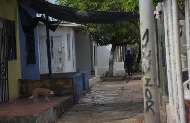 Carrera 2 con calle 50 del barrio San Vicente, lugar donde ocurrió el ataque a bala.