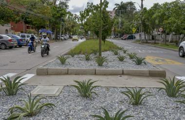 Vista del  reinaugurado bulevar de la carrera 54, entre calles 64 y 65 en el barrio El Prado.