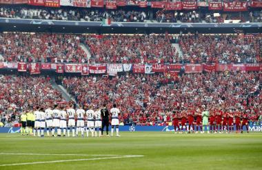 Los jugadores Liverpool y Tottenham.