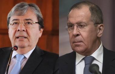 Carlos Holmes Trujillo y Serguéi Lavrov.
