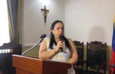 Claudia Aarón, presidenta de la Asamblea del Magdalena.