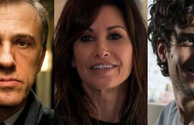 Christoph Waltz, Gina Gershon y el actor francés Louis Garrel.