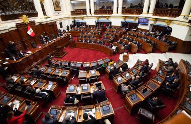 Congreso nacional de Lima durante sustentación de la moción de confianza a reformas anticorrupción.