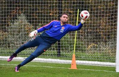Álvaro Montero entrenando con la Selección Colombia.