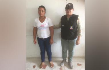 Raiza Paola Querubín Rangel, capturada.