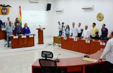 El secretario de Cultura, Juan Jaramillo, durante su presentación en el Concejo.
