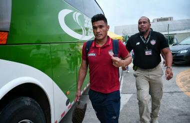 Teófilo a su llegada a Barranquilla.