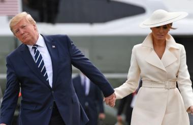 El presidente Trump y la primera dama Melania Trump en su reciente visita a Londres.