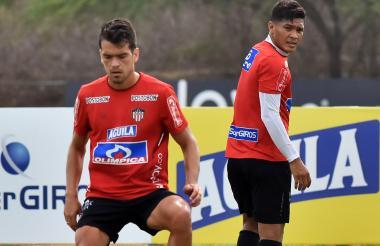 Sebastián y Teo durante un entrenamiento.