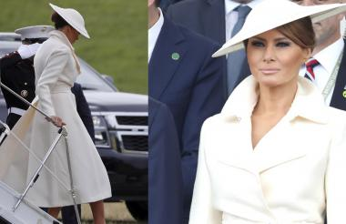 Melania fue comparada con Diana de Gales por algunos de sus 'outfits'
