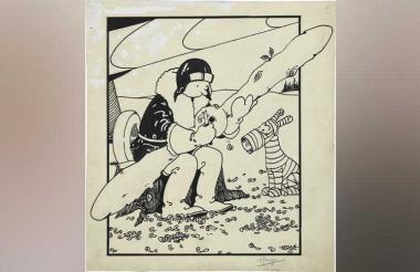 Primera ilustración de Tintín de 1930.
